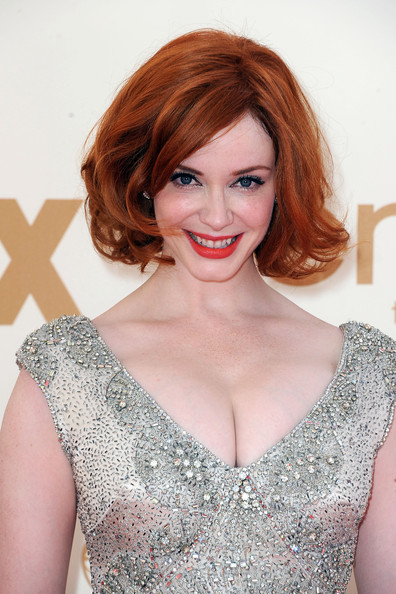 10 Christina Hendricks at the 2011 Emmy Awards on Exshoesme.com