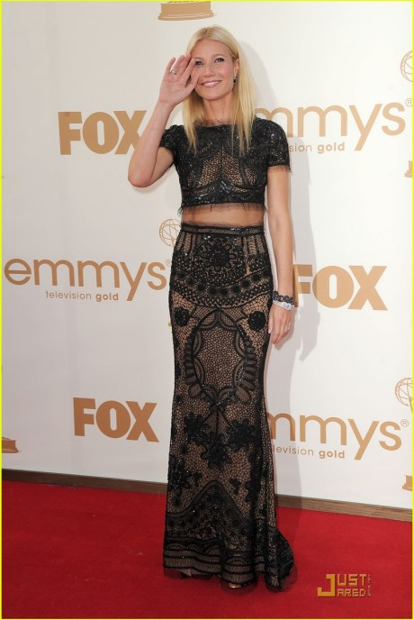 Gwyneth Paltrow in Pucc iat the 2011 Emmy Awards on Exshoesme.com