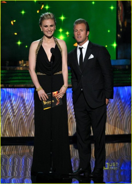 Anna Paquin and Scott Caan at the 2011 Emmy Awards on Exshoesme.com Photo by Frazer Harrison - Getty