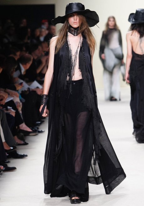 Ann Demeulemeester SS12 Long Fringed Sheer Vest on Exshoesme.com
