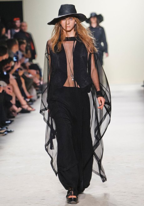 Ann Demeulemeester SS12  Vest and Sheer Cape on Exshoesme.com