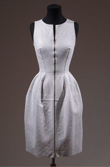 Daphne Guinness FIT Exhibit Preview Alaia Eyelet Dress on Exshoesme.com