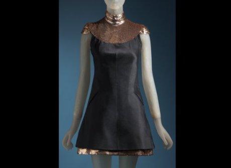 Daphne Guinness FIT Exhibit Preview Chanel Dress on Exshoesme.com
