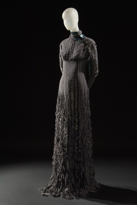 Daphne Guinness FIT Exhibit Preview Gareth Pugh Dress on Exshoesme.com.