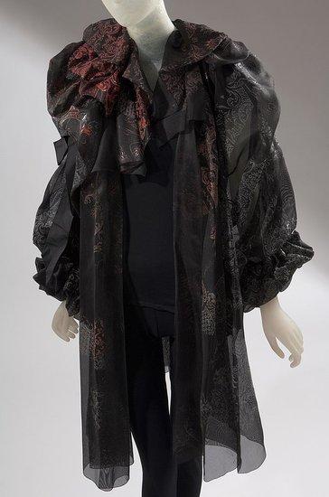 Daphne Guinness FIT Exhibit Preview Lacroix Ruffled Coat on Exshoesme.com