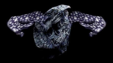 Alexander McQueen Broken Porcelain Skull Scarf on Exshoesme