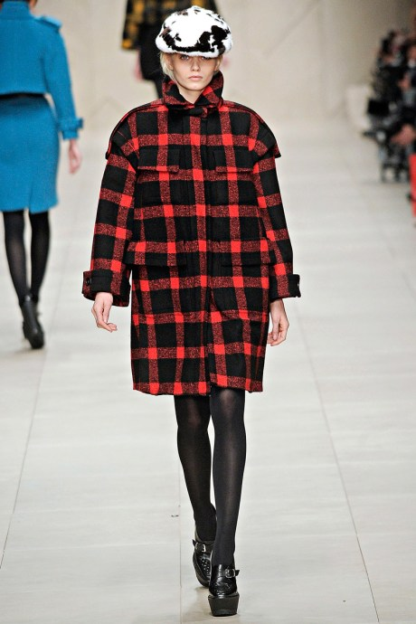 Burberry FW11 Red and Black Lumberjack Coat on Exshoesme.com