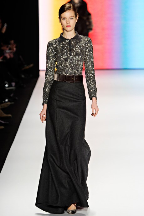 Carolina Herrera FW11 Long Wool Skirt on Exshoesme.com