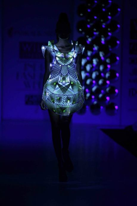 Pankaj & Nidhi SS12 Light Show Dress on Exshoesme
