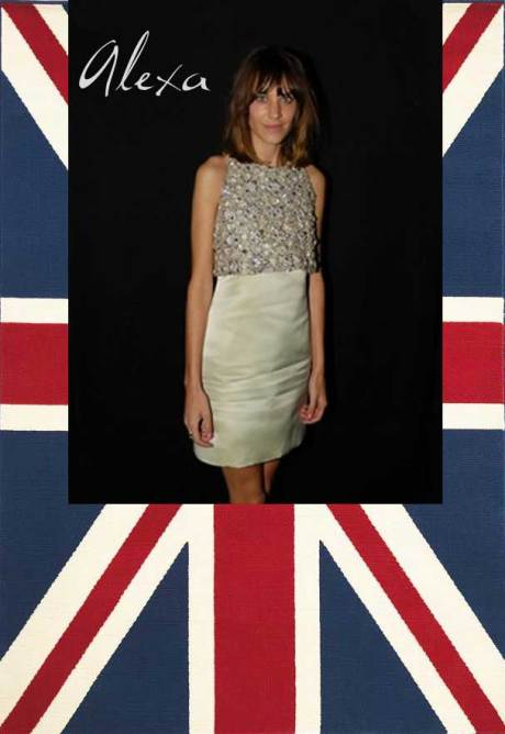 Alexa Chung, winner of the British Style Award at the 2011 British Fashion Awards. Collage by Jyotika Malhotra on Exshoesme.com