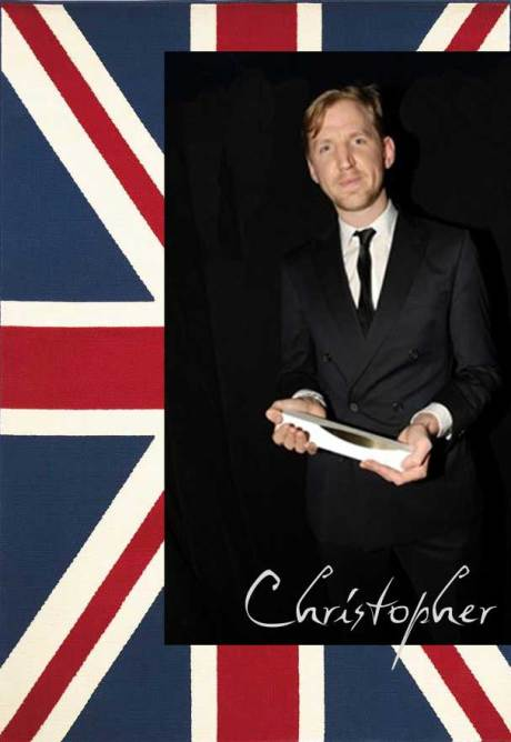 Christopher Raeburn, winner of the Emerging Talent - Menswear at the 2011 British Fashion Awards. Collage by Jyotika Malhotra on Exshoesme.com