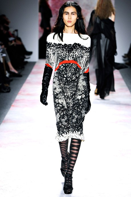 Prabal Gurung FW11 Red Black and White Dress on Exshoesme.com