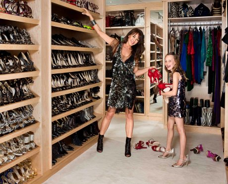 Tamara Mellon in her NYC apartment on Exshoesme.com