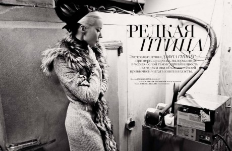 4 Daphne Guinness photographed by Alan Gelati for Harper's Bazaar Russia December 2011 on Exshoesme.com