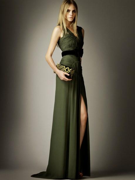 Burberry Prorsum PF12 Green Gown on Exshoesme.com