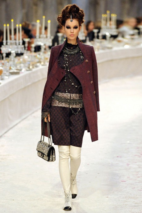 Chanel Métiers d'Art PF12 Paris-Bombay Collection Dress, Coat and Multiple Belts on Exshoesme.com
