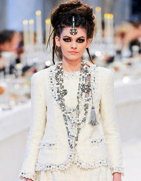 Chanel Métiers d'Art PF12 Paris-Bombay Collection White Chanel Jacket and Baubles on Exshoesme.com