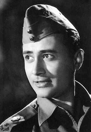Dev Anand black and white film still on Exshoesme.com