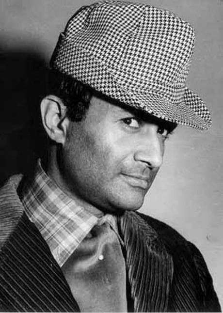 Dev Anand in houndstooth hat, plaid shirt and corduroy jacket on Exshoesme.com