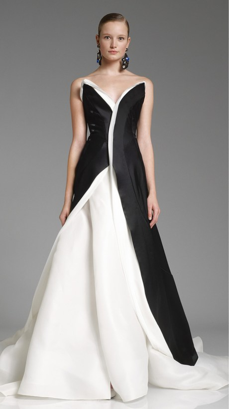 Donna Karan PF12 Black and White Gown on Exshoesme.com