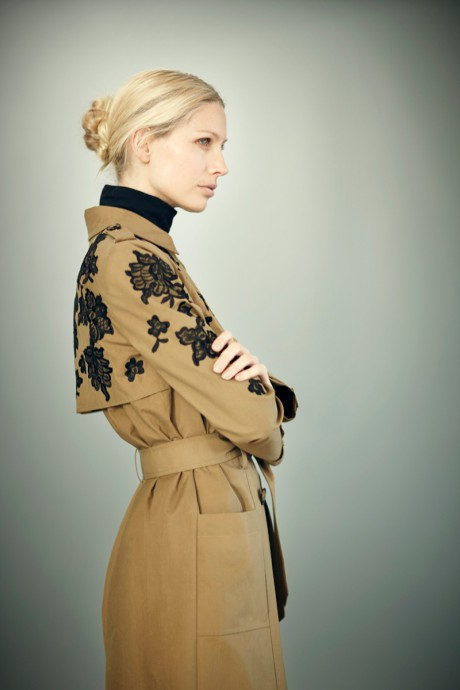 Erdem PF12 Lace Embroidered Trench Coat on Exshoesme.com