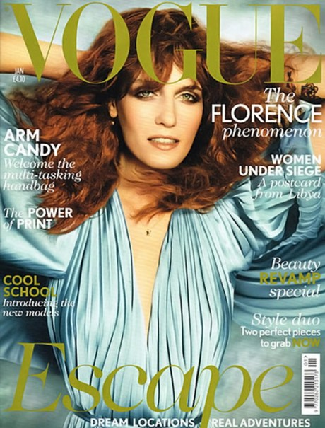 Florence Welch photographed by Mario Testino for British Vogue January 2012 on Exshoesme.com