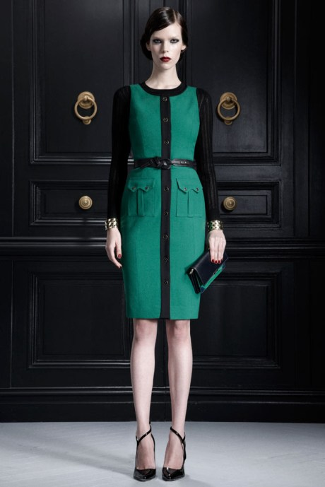 Jason Wu PF12 Green and Black Dress on Exshoesme