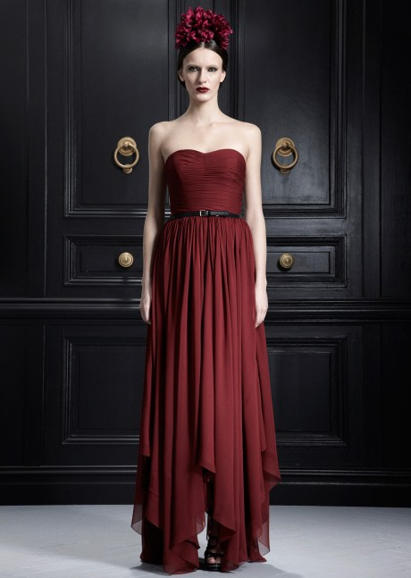 Jason Wu PF12 claret belted gown on Exshoesme.com