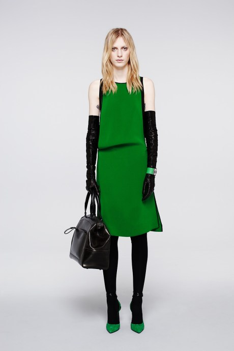 Reed Krakoff PF12 Green Dress and Black Accessories on Exshoesme.com