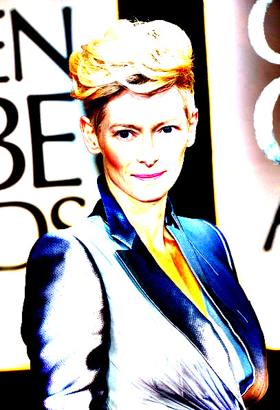 15 Tilda Swinton's Tousled locks at the 2012 Golden Globe Awards on Exshoesme.com