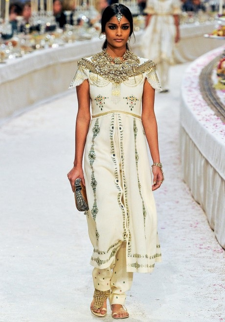Alyssah Ali in the Chanel Métiers d'Art PF12 Paris Bombay Show on Exshoesme.com