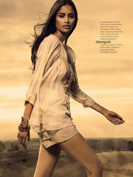 Alyssah Ali photographed by Carl Bengtsson for Elle Sweden June 2009 on Exshoesme.com