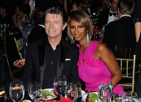 David Bowie and Iman in April 2011 on Exshoesme.com