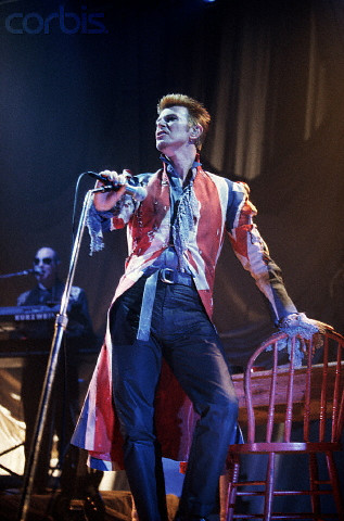 David Bowie in Alexander McQueen during the Earthling Tour on Exshoesme.com