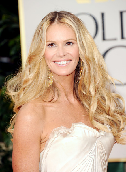 Elle Macpherson in Zac Posen - closeup at the 2012 Golden Globe Awards on Exshoesme.com