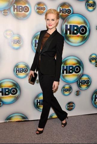 Evan Rachel Wood at the HBO After Party - 2012 Golden Globe Awards on Exshoesme.com