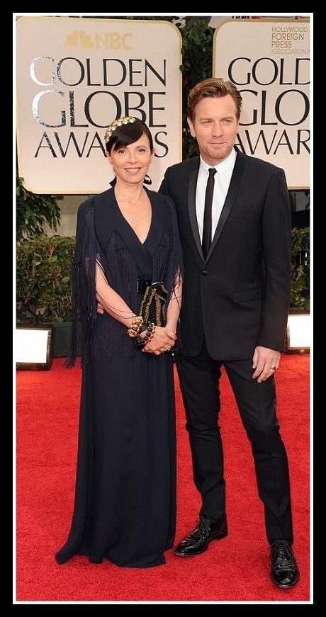 Ewan McGregor and Eve Mavrakis at the 2012 Golden Globe Awards on Exshoesme.com