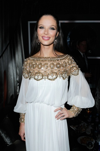 Georgina Chapman at the Weinstein After Party - 2012 Golden Globe Awards on Exshoesme.com