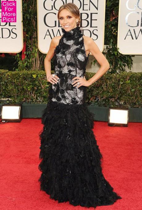 Giuliana Rancic in Monique Collignon at the 2012 Golden Globe Awards on Exshoesme.com