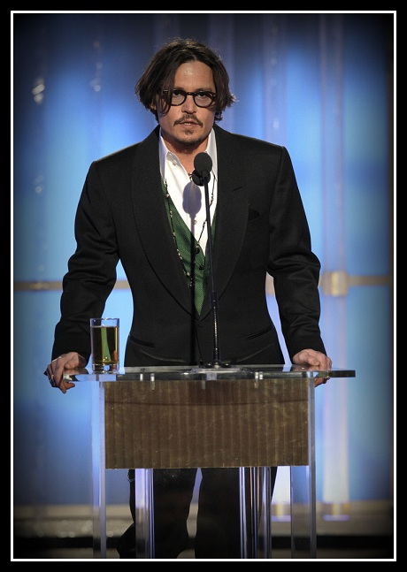 Johnny Depp at the 2012 Golden Globe Awards on Exshoesme.com