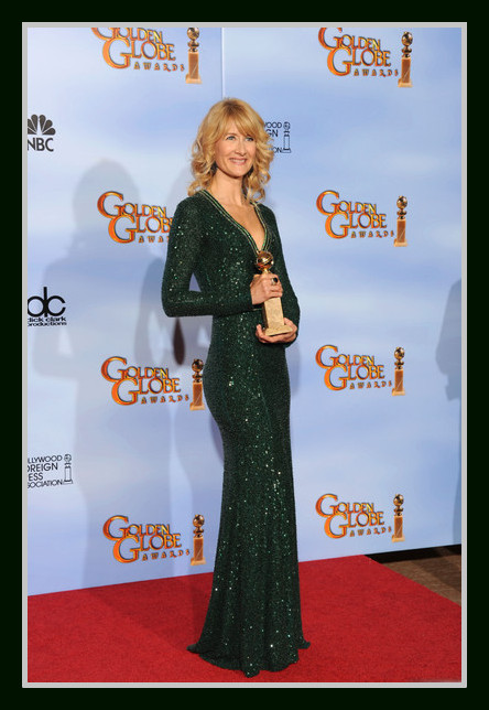 Laura Dern in Andrew Gn at the 2012 Golden Globe Awards on Exshoesme.com
