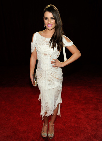 Lea Michele in Marchesa at the 2012 People's Choice Awards on Exshoesme.com