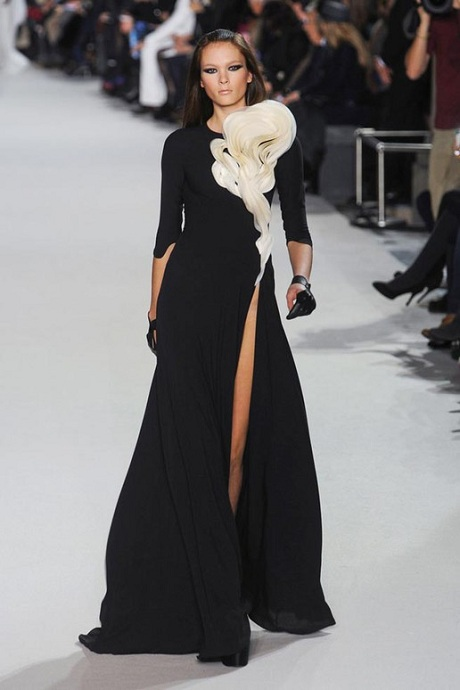 Stephane Rolland Spring 2012 Couture Black and White Gown on Exshoesme.com