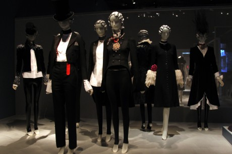 The Dandyism display at the Daphne Guinness Exhibit at the Museum at FIT on Exshoesme.com