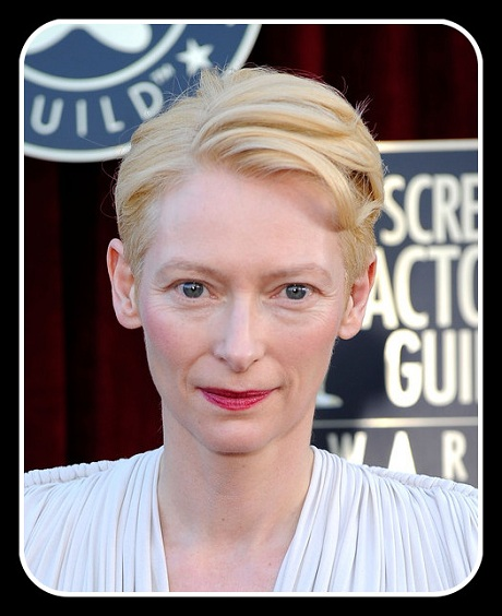 Tilda Swinton's hair and makeup at the 2012 SAG Awards on Exshoesme.com