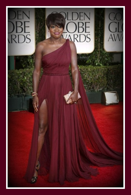 Viola Davis at the 2012 Golden Globe Awards on Exshoesme.com