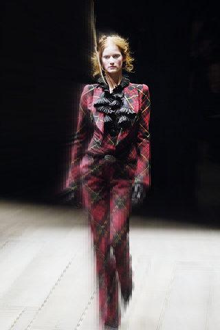 Alexander McQueen FW06 Red Tartan Suit on Exshoesme.com