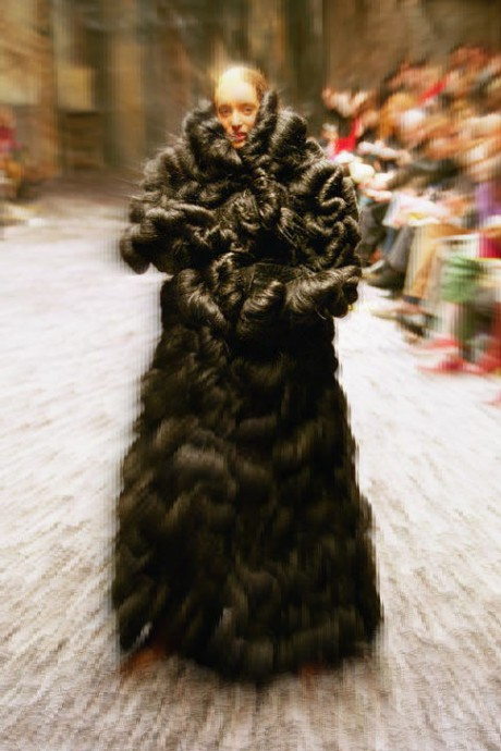 Alexander McQueen Fall 2000 Synthetic Hair Coat on Exshoesme.com