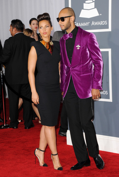 Alicia Keys with Swizz Beatz at the 2012 Grammy Awards on Exshoesme.com