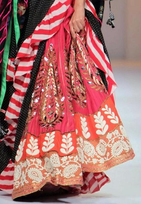 Anupamaa by Anupama Dayal AW12 Layered Lainga on Exshoesme.com